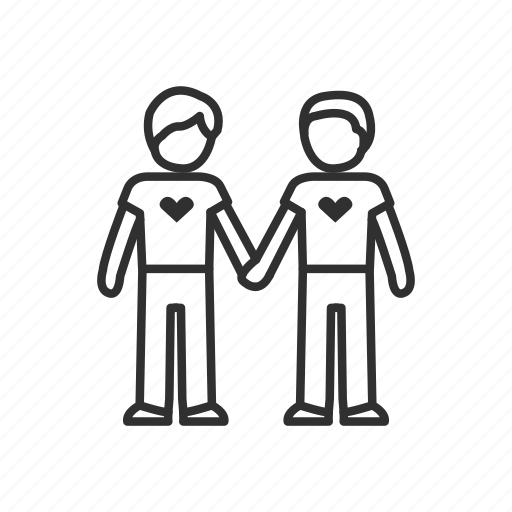 friends, holding hands, homosexual, love, man, man holding hands, relationship icon
