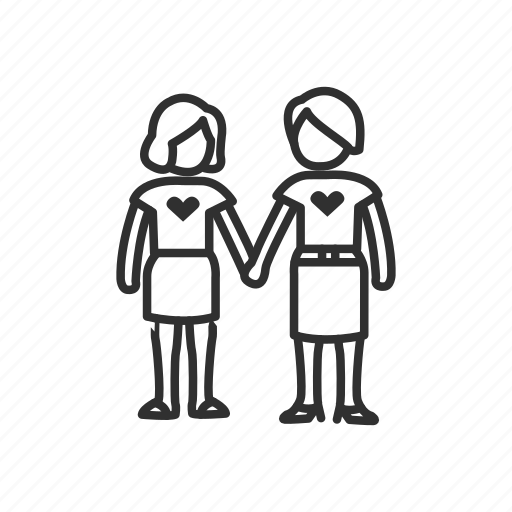 friends, holding hands, homosexual, love, relationship, woman, women holding hands icon