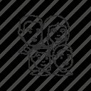 children, family, group, kids, man, parents, woman icon