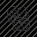 boys, children, family, group, kids, parents, woman icon