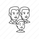 boy, child, family, group, kid, man, parents icon