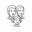 child, family, girl, group, kid, man, parents icon