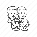 children, family, girl, group, kids, man, parents icon