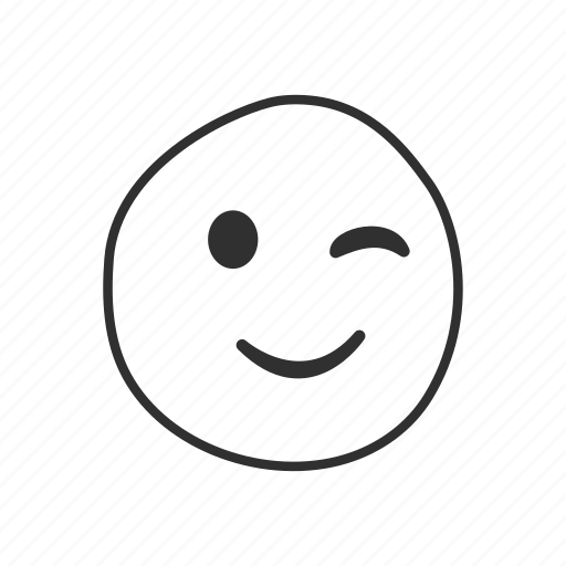 emoji, emoticon, smiling, smiling face, smiling face with winking eyes, winking, winking eyes icon
