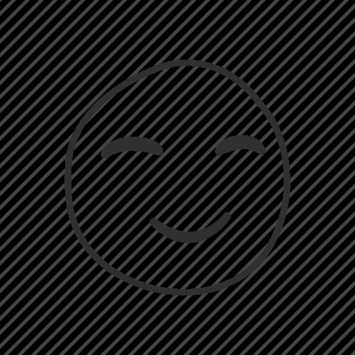 emoji, emoticon, happy, happy face, satisfied, smiling, smiling face icon