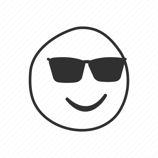 cool, cool face, emoji, emoticon, face with sunglasses, shades, sunglasses icon