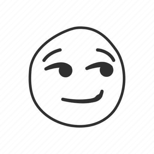 emoji, emoticon, sarcastic smile, smirking, smirking face, wry, wry smile icon
