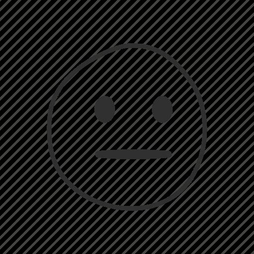 bored, emoji, emoticon, neutral, neutral face, serious, serious face icon