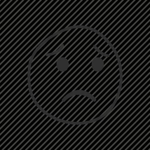 emoji, emoticon, sad, sad face, unhappy, worried face, worry icon