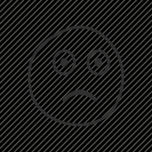 emoji, emoticon, flushed, flushed face, ill, shocked, surprised icon