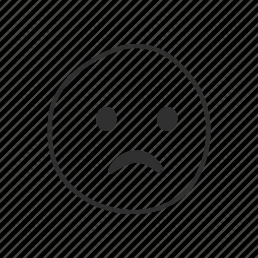 disappointed, emoji, emoticon, sad, sad face, unhappy icon