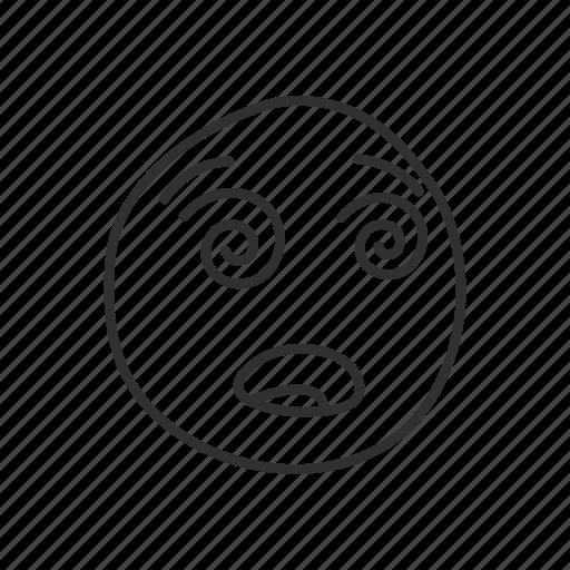 dizzy, dizzy face, emoji, emoticon, face, fatigue icon