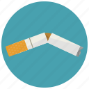broken, cigarette, smoking icon