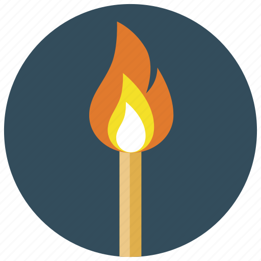 burning, fire, flame, match, smoking icon