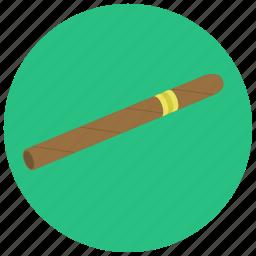 cigar, expensive, smoking, vintage icon