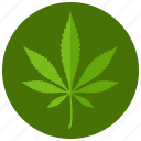 leaf, marijuana, sign, smoking icon