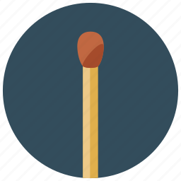 burn, fire, light, matchstick, smoking icon