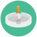 ashtray, cigarette, out, put, smoking icon