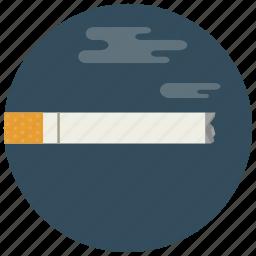 cigarette, lit, smoke, smoking icon