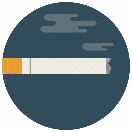cigarette, lit, smoke, smoking icon