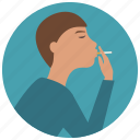 cigarette, hand, man, smoking, woman icon