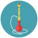 pipe, shisha, smoking, water icon