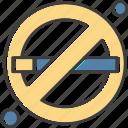 cigarette, forbidden, smoking icon