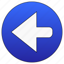 left, back, previous, arrow icon