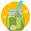 drink, fruit, health, kiwi, smoothie, vitamins, yumminky icon