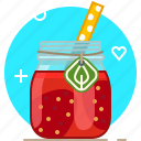 drink, fruit, health, smoothie, strawberry, vitamins, yumminky icon
