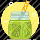 drink, fruit, health, lime, smoothie, vitamins, yumminky icon