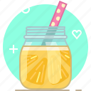drink, fruit, lemon, pineapple, smoothie, vitamins