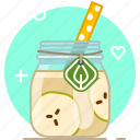 apple, drink, fruit, health, smoothie, vitamins, yumminky icon