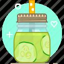 cucumber, drink, health, smoothie, vegetable, vitamins, yumminky icon