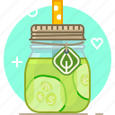 cucumber, drink, health, smoothie, vegetable, vitamins, yumminky icon