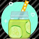 cucumber, drink, health, smoothie, vegetable, vitamins