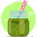 drink, health, smoothie, spinach, vegetable, vitamins, yumminky icon