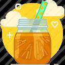 drink, fit, fruit, orange, smoothie, vitamins, yumminky icon