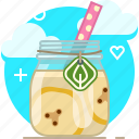 banana, drink, fit, fruit, smoothie, vitamins, yumminky icon