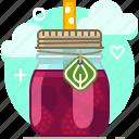 drink, fit, fruit, raspberry, smoothie, vitamins, yumminky icon