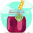drink, fit, fruit, raspberry, smoothie, vitamins, yumminky icon