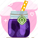 blackberry, drink, fit, fruit, smoothie, vitamins, yumminky icon