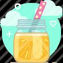 drink, fruit, lemon, pineapple, smoothie, vitamins, yumminky icon