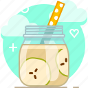 apple, drink, fit, fruit, smoothie, vitamins, yumminky icon