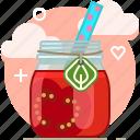 drink, fit, smoothie, tomato, vegetable, vitamins, yumminky icon