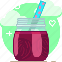 beetroot, drink, fit, smoothie, vegetable, vitamins, yumminky icon