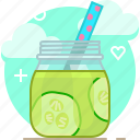 cucumber, drink, fit, smoothie, vegetable, vitamins, yumminky icon