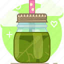 drink, fit, smoothie, spinach, vegetable, vitamins, yumminky icon