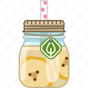 banana, drink, fruit, health, smoothie, vitamins, yumminky icon