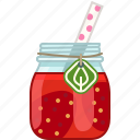 drink, fruit, health, smoothie, strawberry, vitamins